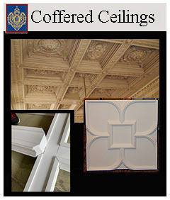 Ceiling Panels to create a beautiful coffered ceiling