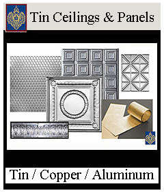 Tin Ceilings, Copper & Aluminum Panels from Imperial Productions