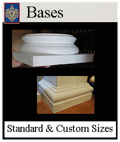 Attic and Tuscan Column Bases - historic duplicates custom made