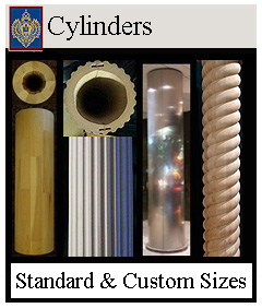 round cylinders - smooth, fluted, rope no caps or bases