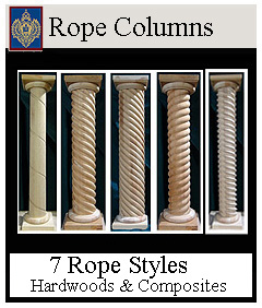 Rope columns 7 styles