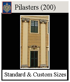 Pilasters for buildings and doorways