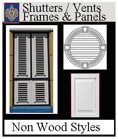 Shutters, vents and decorative panels from Imperial