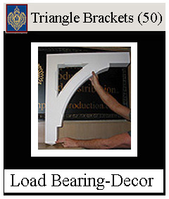 Triangle brackets Structural and Decorative from Imperial