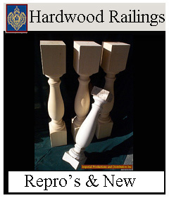 Historic reproductions of hardwood balusters