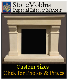 Stone Fireplace mantels from Imperial Custom Sizes available