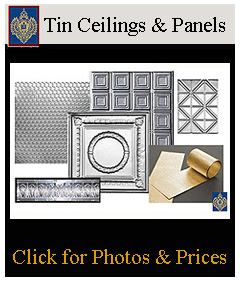 tin ceiling panels and tin walls