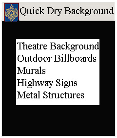 Quick Dry Theatre Background Paints
