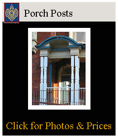 porch posts custom made from wood